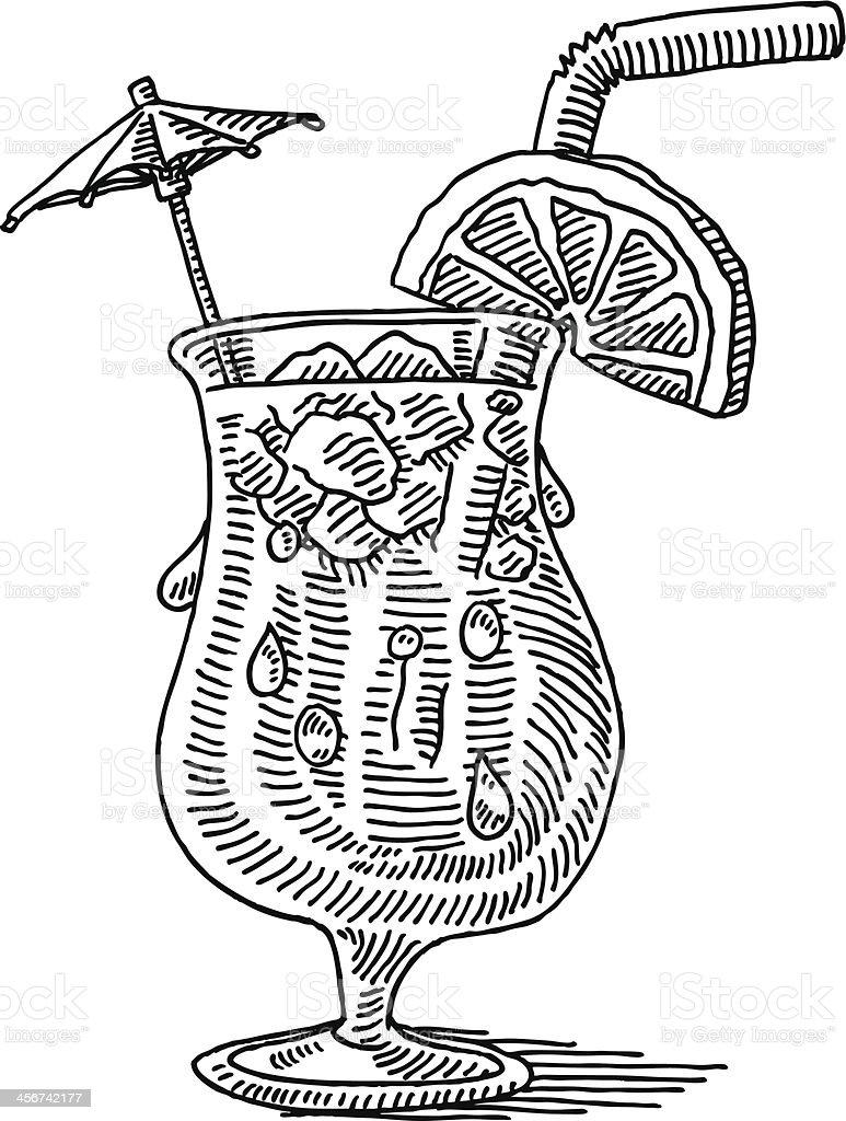 Verre de boisson cocktail dessin cliparts vectoriels et plus d 39 images de alcool 456742177 istock - Dessin cocktail ...
