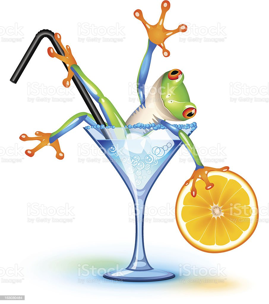 Cocktail Frog royalty-free stock vector art