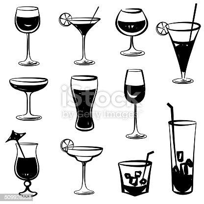 cocktail glasses set black and white engraved party. Black Bedroom Furniture Sets. Home Design Ideas
