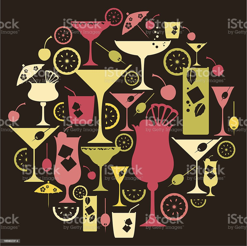 Ensemble d'icônes de Cocktail - Illustration vectorielle