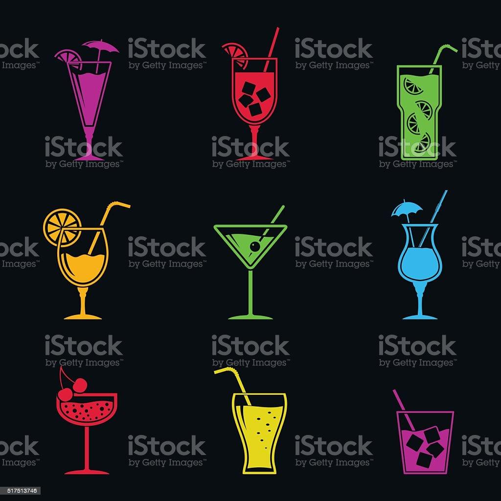 Icone di Cocktail - illustrazione arte vettoriale