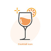 istock Cocktail or Drink Icon Vector Design. 1299261956