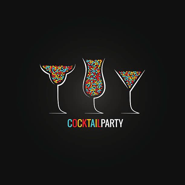 bildbanksillustrationer, clip art samt tecknat material och ikoner med cocktail party design background - vin sommar fest