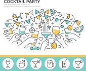 Cocktail party  illustration.