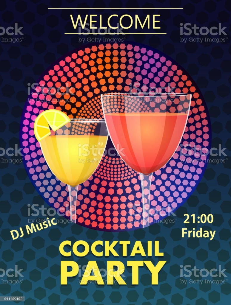 Cocktail Karte.Einladung Zur Cocktailkarte Stock Vektor Art Und Mehr Bilder Von