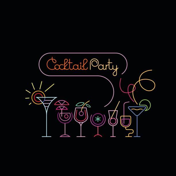 カクテル パーティーのポスター デザイン - アルコール飲料点のイラスト素材/クリップアート素材/マンガ素材/アイコン素材
