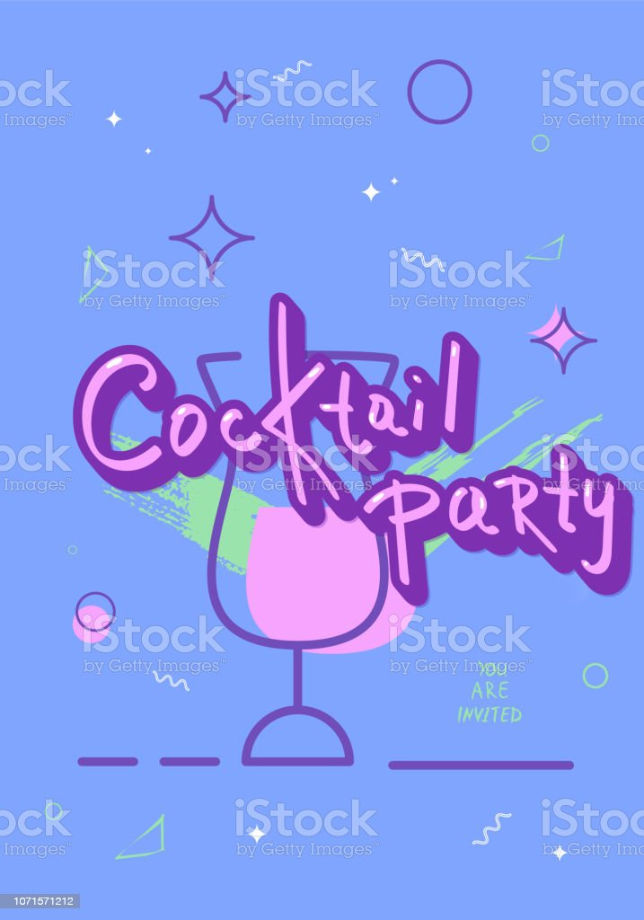 Cocktail party template.  Vector illustration. vector art illustration