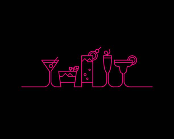 ilustraciones, imágenes clip art, dibujos animados e iconos de stock de partido de coctel - cóctel
