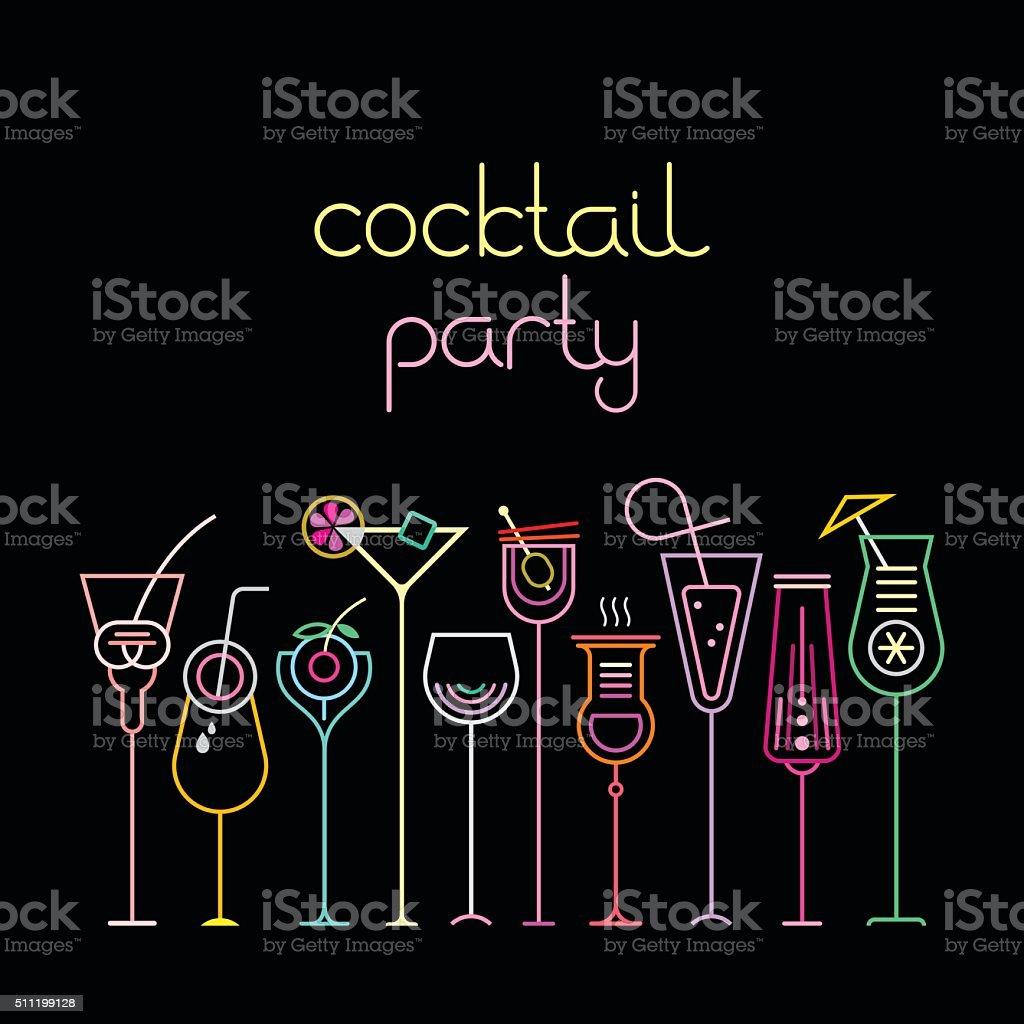 Coquetel Party - ilustração de arte em vetor