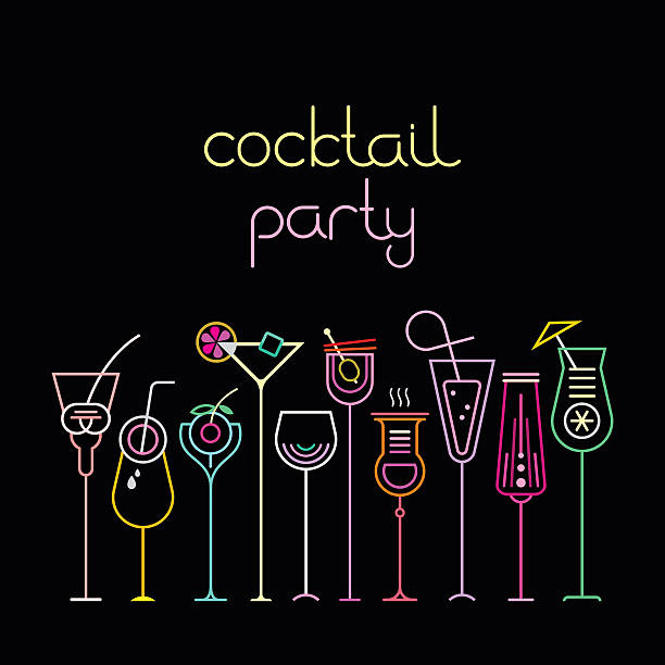 cocktail party - cocktails stock illustrations, clip art, cartoons, & icons