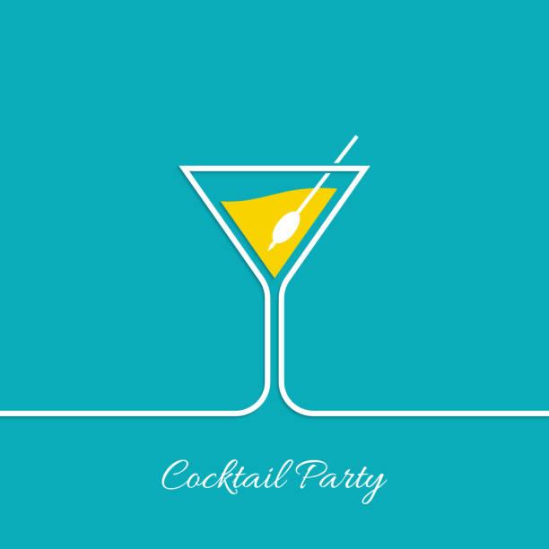 bildbanksillustrationer, clip art samt tecknat material och ikoner med cocktail party - vin sommar fest