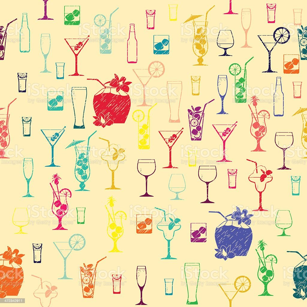 Cocktail pattern royalty-free cocktail pattern stock vector art & more images of abstract