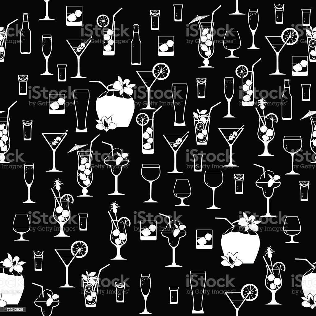 Cocktail pattern royalty-free stock vector art