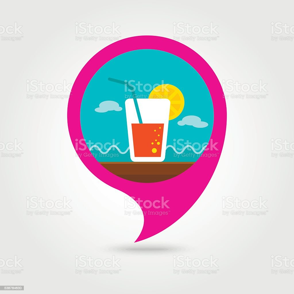 Cocktail Pin Map Icon Summer Vacation Stock Vector Art & More Images ...