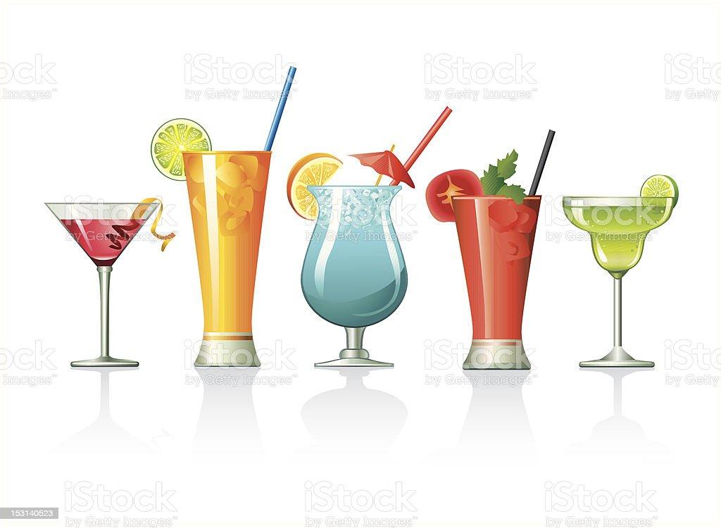 Cocktail set vector art illustration