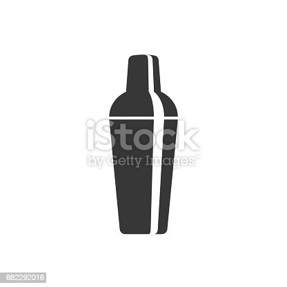 cocktail shaker icon, silhouette design