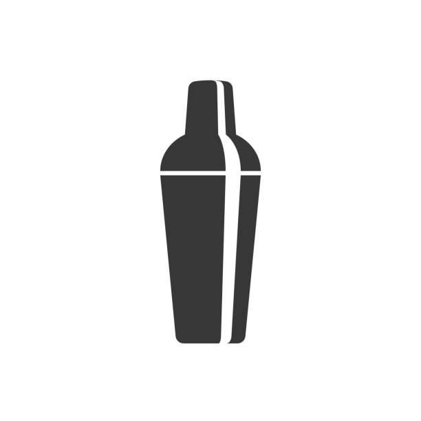 cocktail shaker icon cocktail shaker icon, silhouette design alcohol drink silhouettes stock illustrations