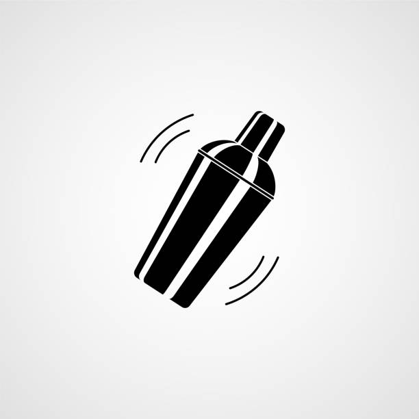 Cocktail shaker. Icon vector art illustration