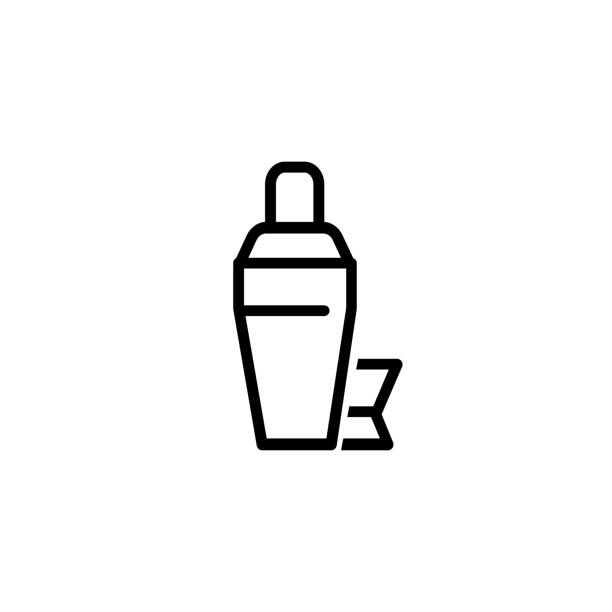 Cocktail shaker icon vector art illustration