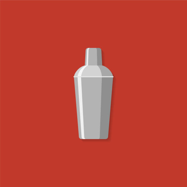 Cocktail shaker. Illustration flat design style vector art illustration