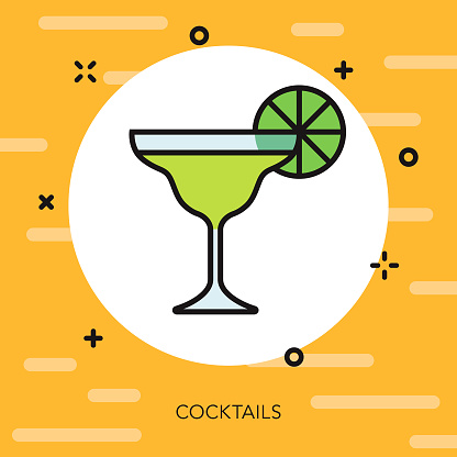 Cocktail Thin Line Vacation Icon