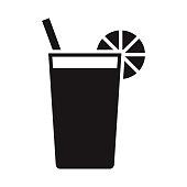 istock Cocktail Travel Glyph Icon 1305165321