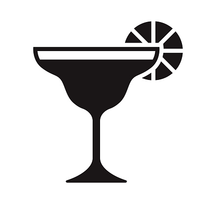Cocktail Travel Glyph Icon