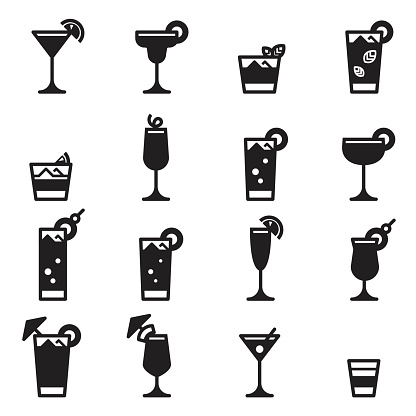 Cocktails Icons [Black Edition]
