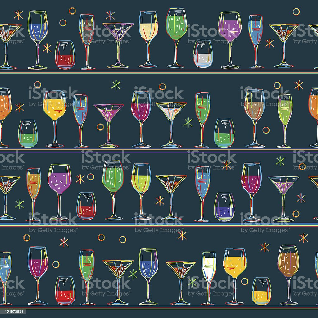 Cocktail's pattern design royalty-free stock vector art