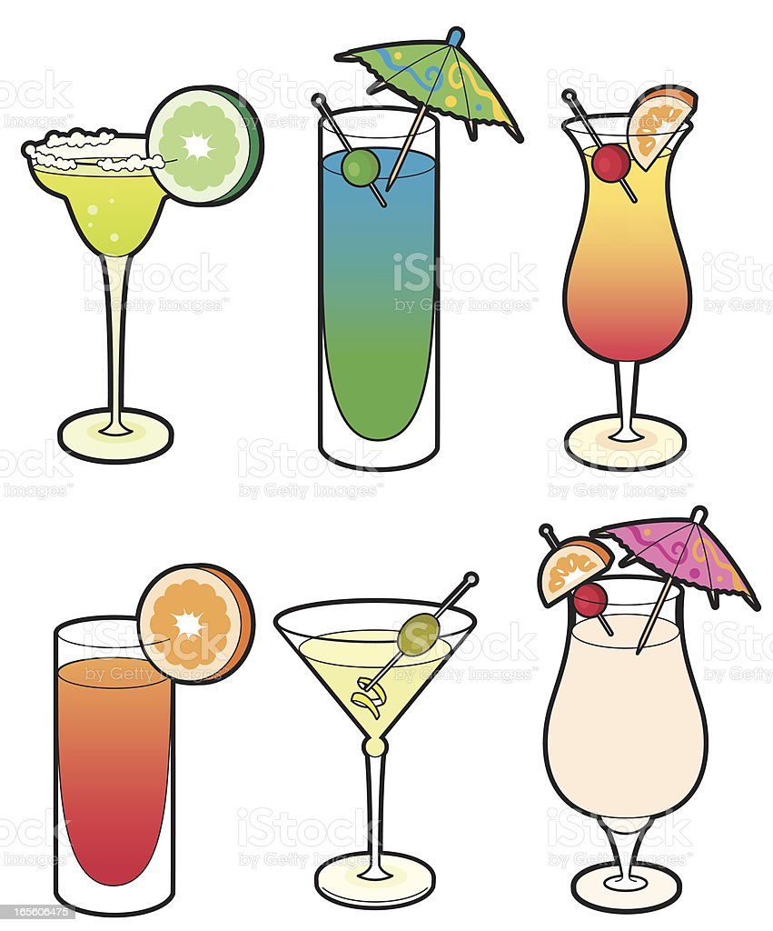 Cocktails royalty-free stock vector art
