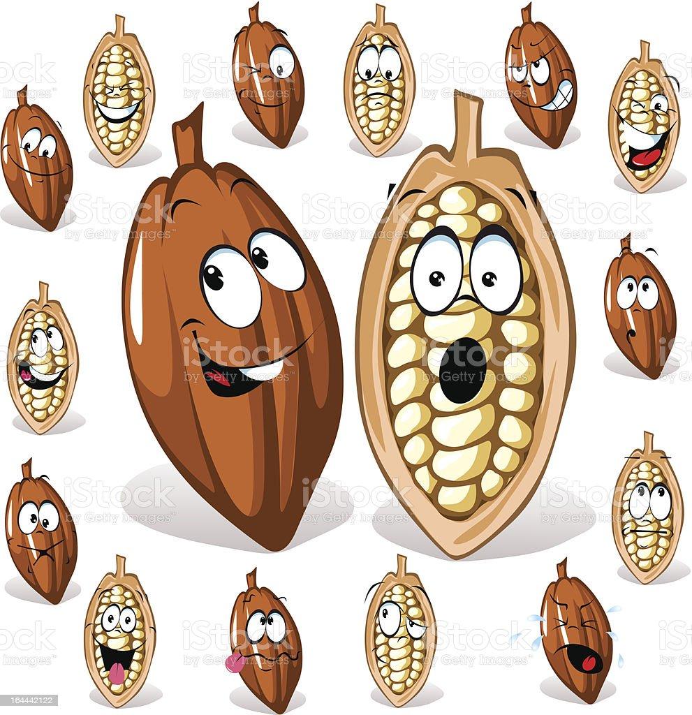 cocoa beans royalty-free stock vector art