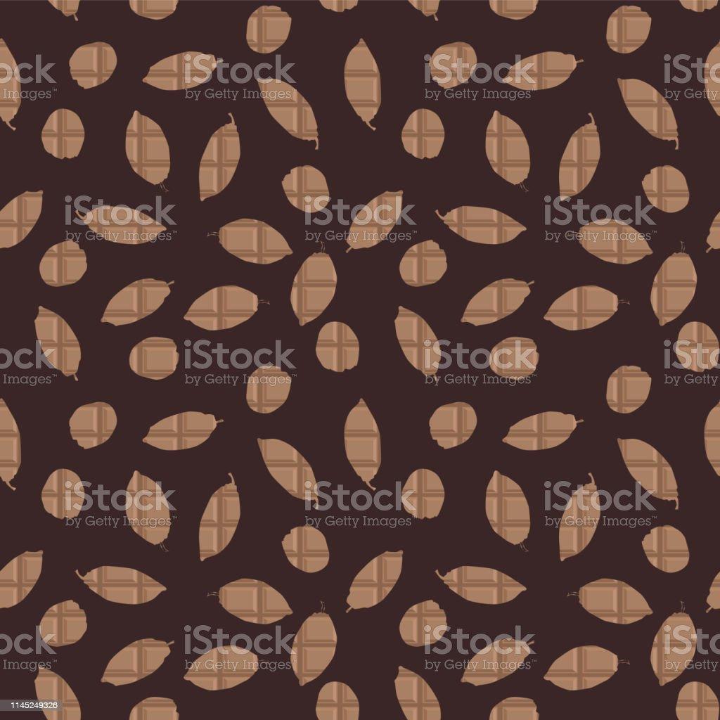ココアポッドはチョコレートタブレットのテクスチャシームレスな
