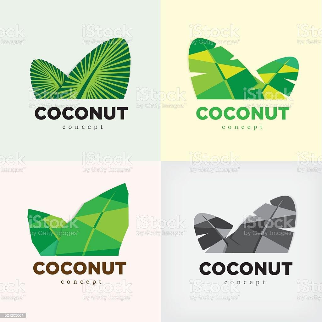 coconut concept logo or symbol vector art illustration