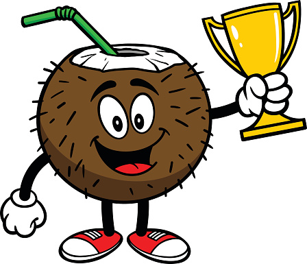 Coconut Drink with Trophy