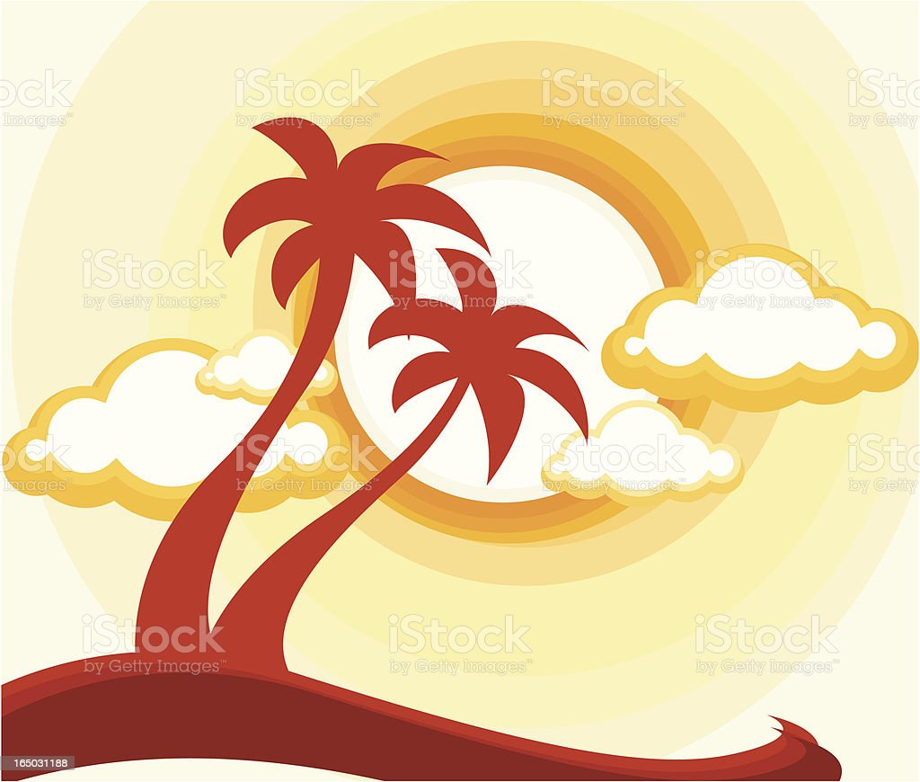 coconut island royalty-free coconut island stock vector art & more images of cloud - sky
