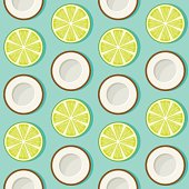Coconut Lime Seamless Pattern