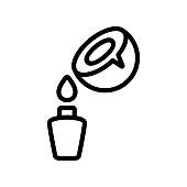 coconut milk dropping in bottle icon vector. coconut milk dropping in bottle sign. isolated contour symbol illustration