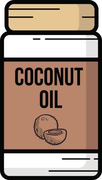 Aceite de coco - ilustración de arte vectorial