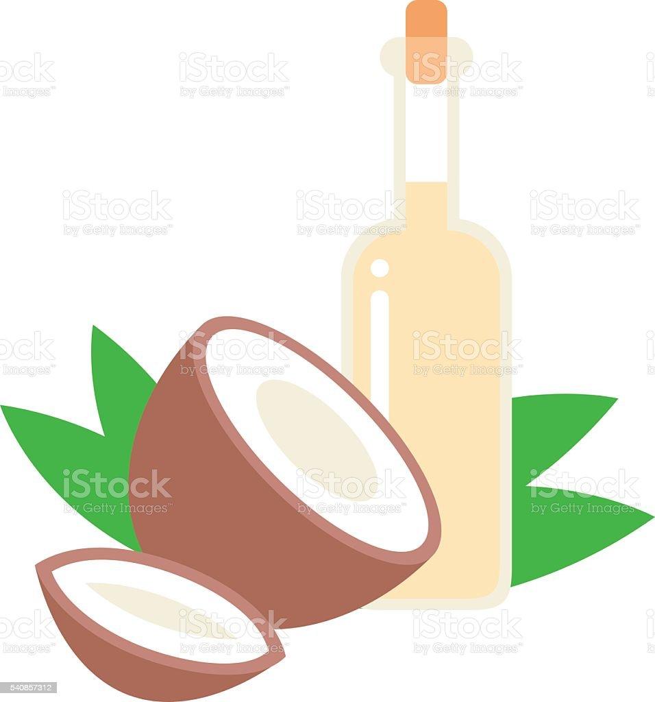 Aceite de coco ilustración de vectores. - ilustración de arte vectorial