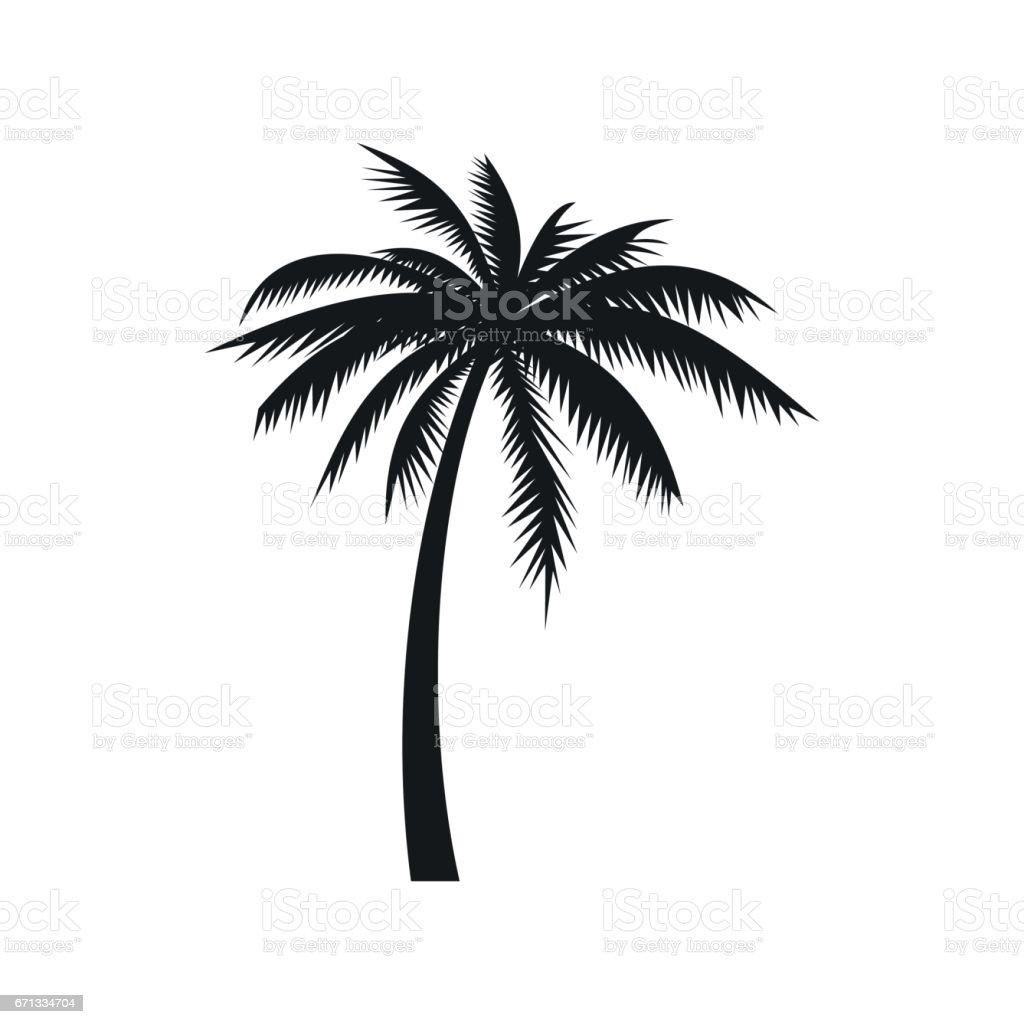 Vector Illustration Tree: Coconut Palm Tree Icon Simple Style Stock Vector Art