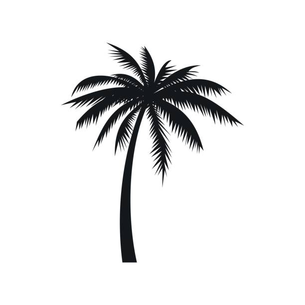 Kokospalme Baumsymbol, einfachen Stil – Vektorgrafik