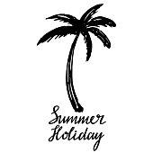 Coconut palm tree. Icon