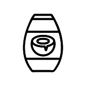 coconut shampoo icon vector. coconut shampoo sign. isolated contour symbol illustration