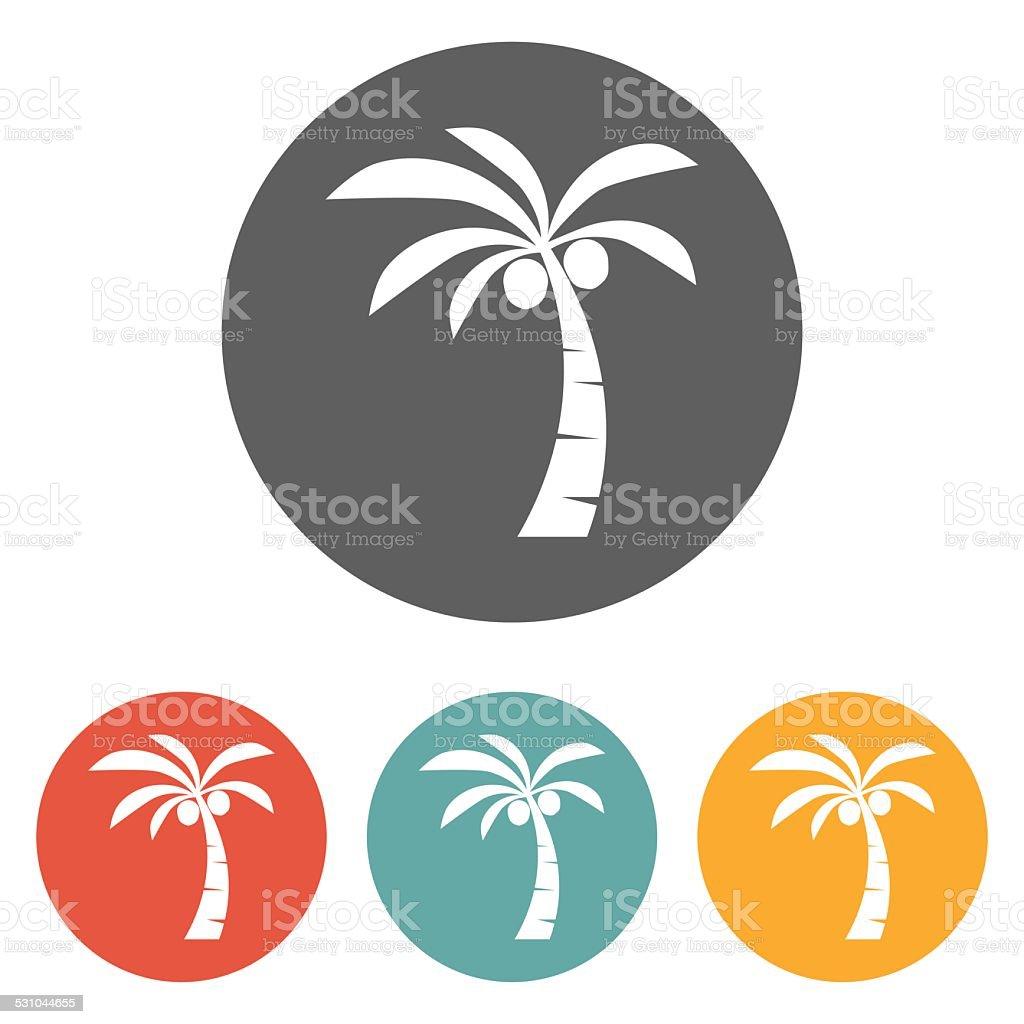 coconut tree icon vector art illustration