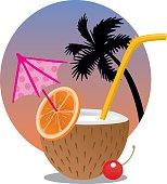 vector illustration of Coconut