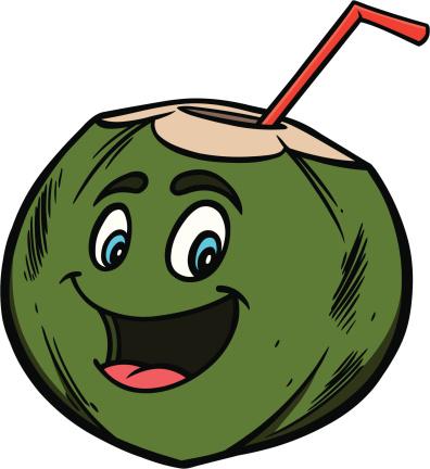 Coconut Water Cartoon
