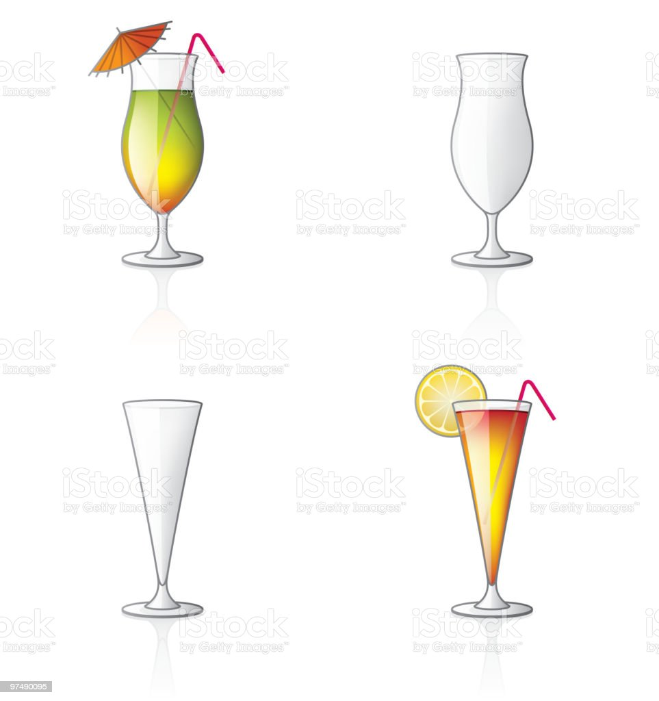 Coctail Glass Icon Set. Design Elements royalty-free coctail glass icon set design elements stock vector art & more images of alcohol