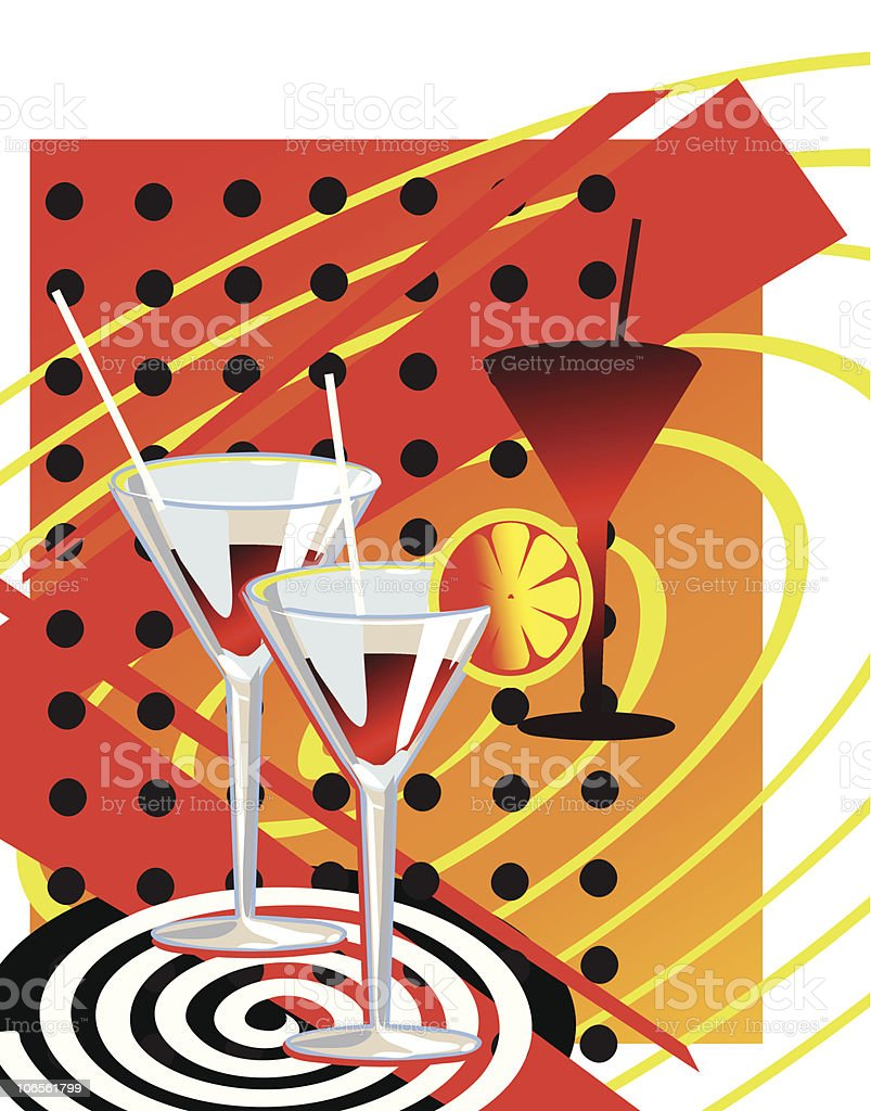 Coctail royalty-free stock vector art