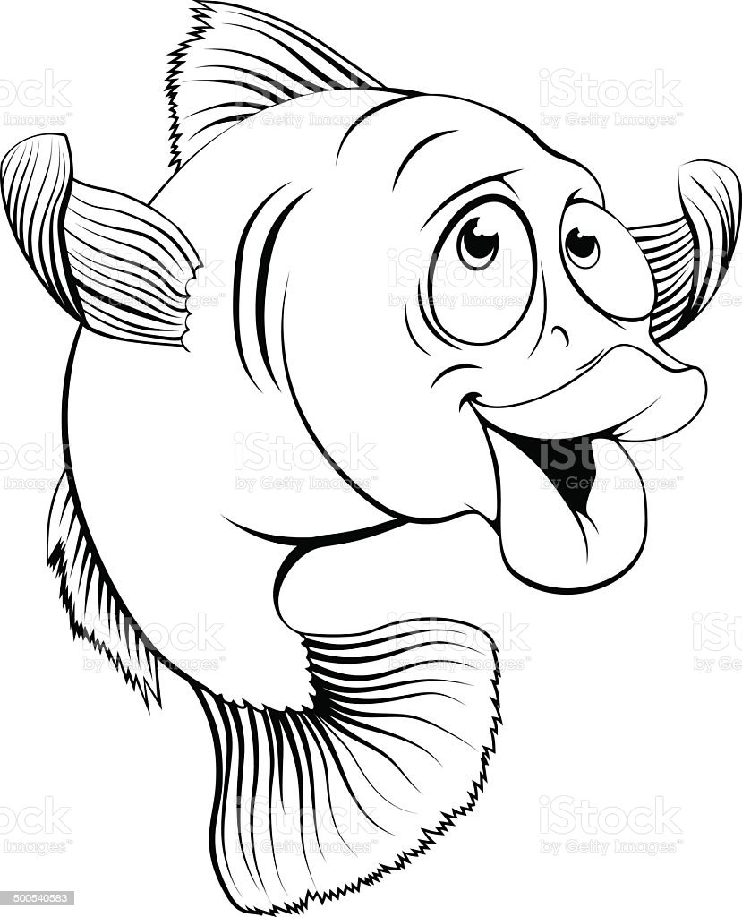 cod fish cartoon stock vector art 500540583 istock