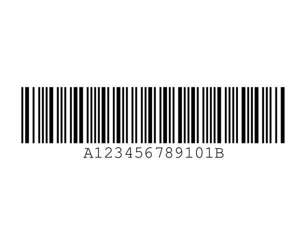 Codabar Barcode Standard Sample vector art illustration